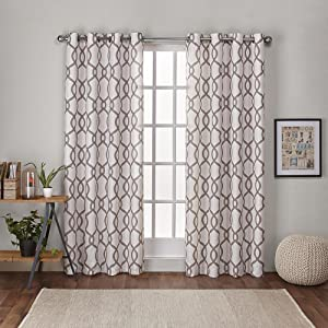 Exclusive Home Curtains EH7909-05 2-X84G Kochi Linen Blend Grommet Top Curtain Panel Pair, 54x84, Natural, 2 Piece