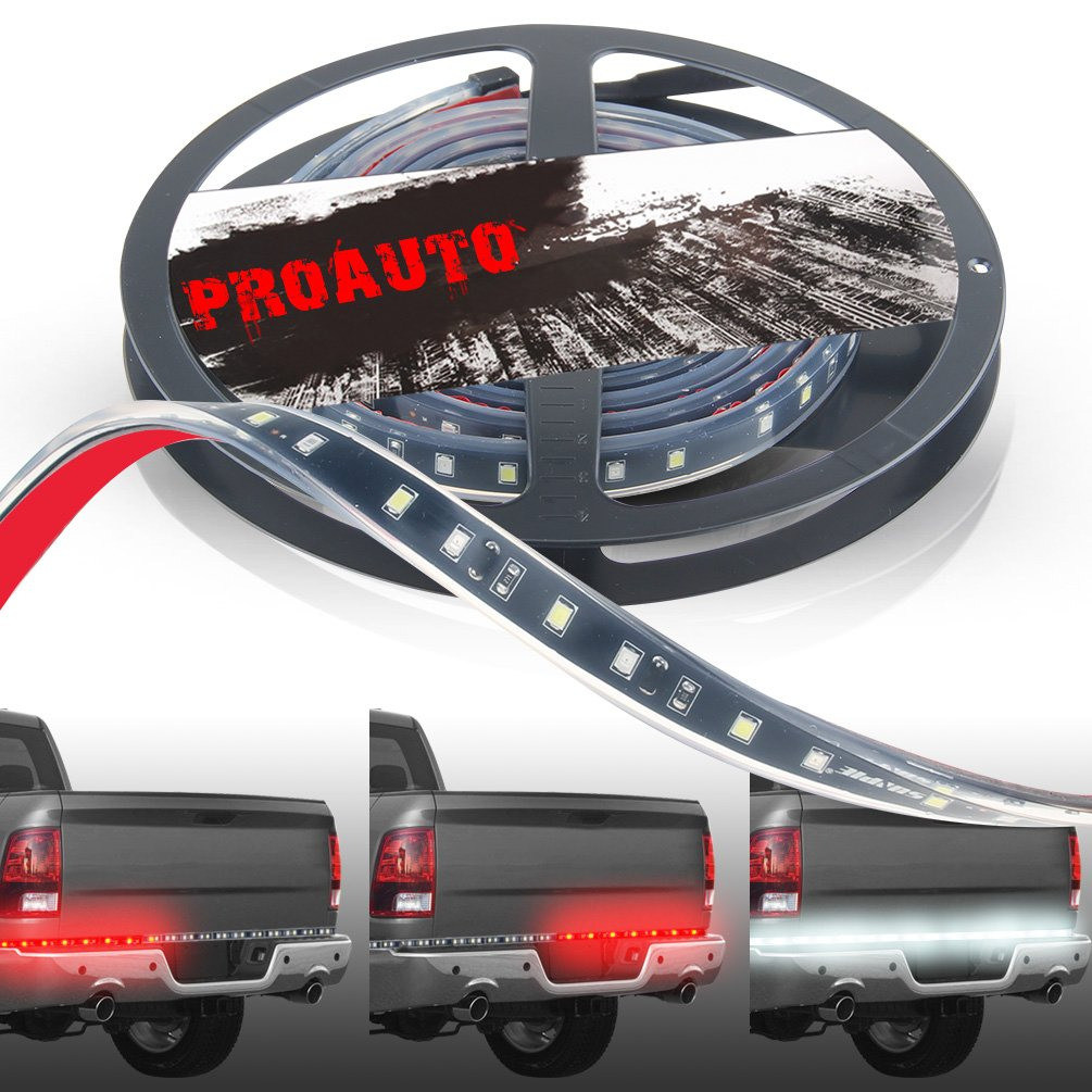 PROBASTO 60 inch Waterproof LED Truck Tailgate Light Bar Strips with Reverse Brake Running Turn Signal function White/Red for Pick-up Truck SUV (Ford Pickup, Dodge Ram Pickup, Chevrolet Silverado) PROAUTO