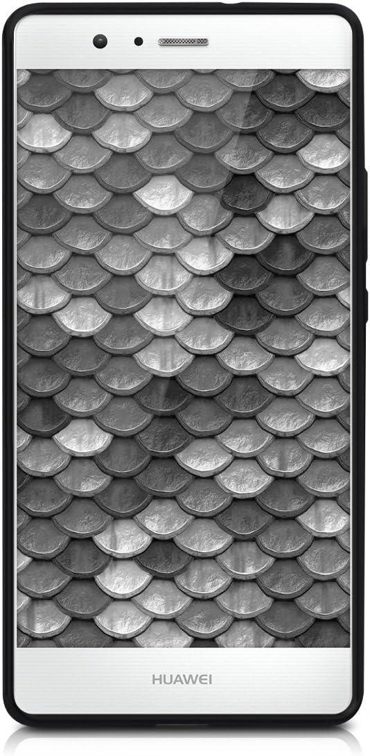 kwmobile Funda para Huawei P9 Lite Carcasa de TPU para m/óvil y dise/ño de Mapa Mundial en Negro//Multicolor//Transparente