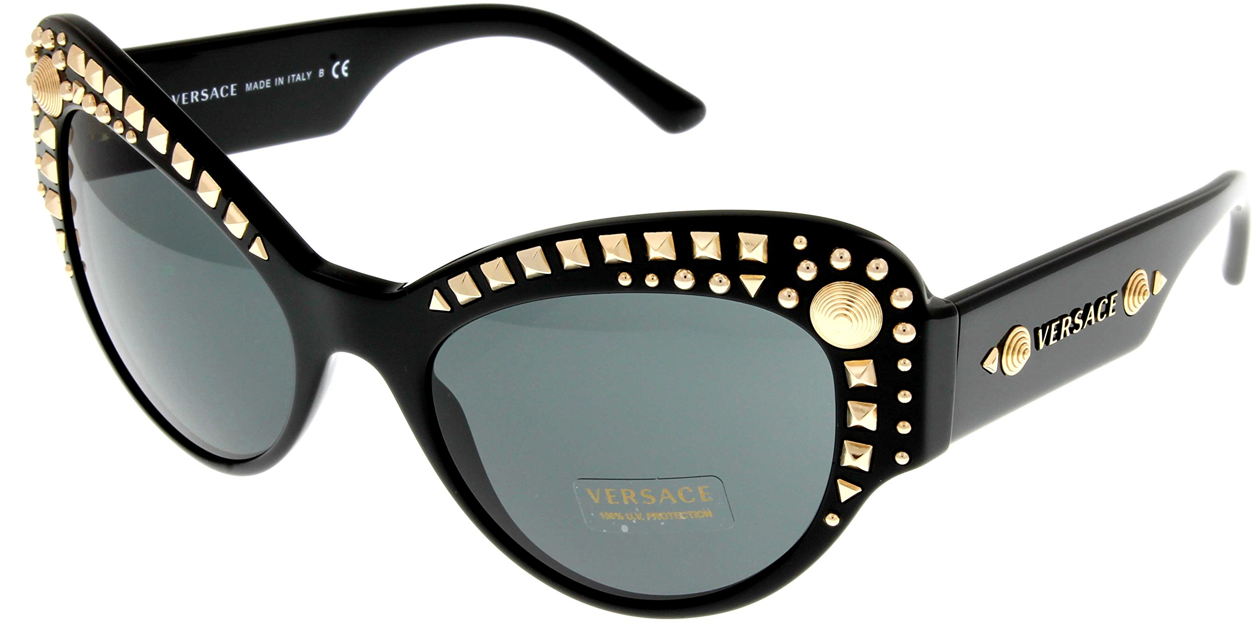Versace Sunglasses Womens Black Cateye 100% UV Protection VE4269 GB1/87 by Versace