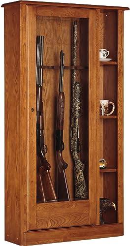 American Furniture Classics 725 10 Gun Curio Cabinet Combination