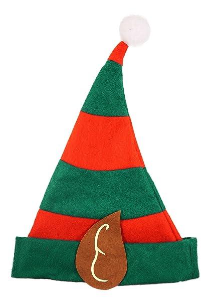 HENBRANDT Bambini Festive Elfo di natale cappello rosso e verde con le  orecchie e Bobble  Amazon.it  Abbigliamento 10e10aae7631
