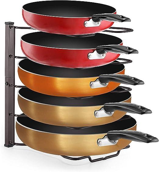 YOMYM Saucepan Pan Bakeware Organizador Rack de Almacenamiento ...