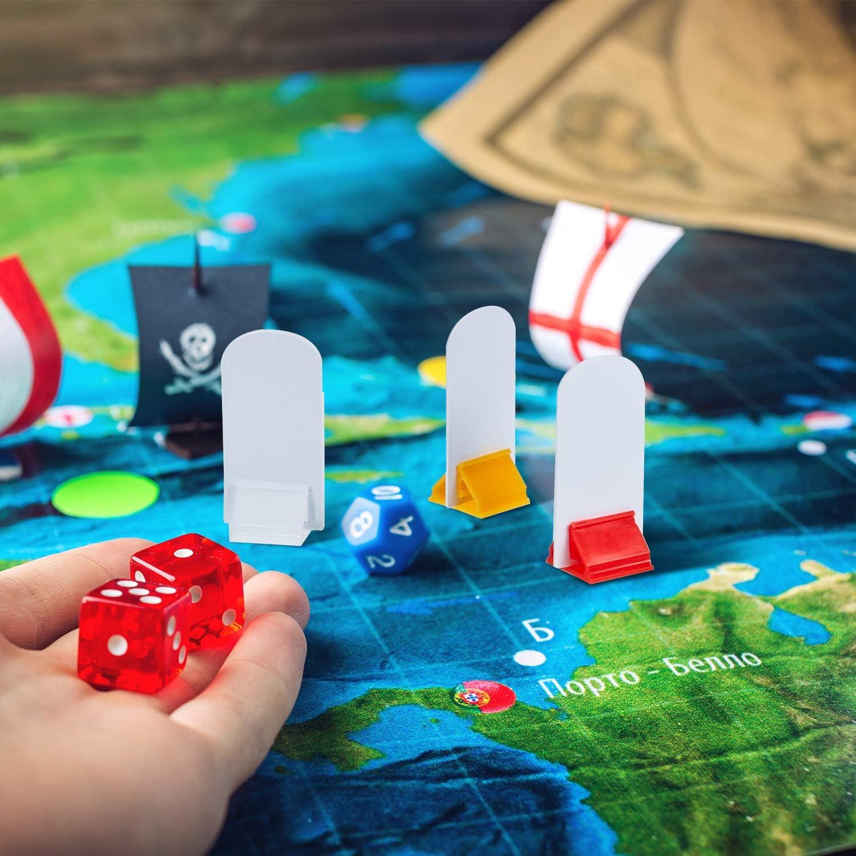 12 Piezas Soportes de Cartas de Juego Multicolor con 12 Piezas Marcadores de Tablero de Juego Blanco para Favor de Fiesta: Amazon.es: Juguetes y juegos