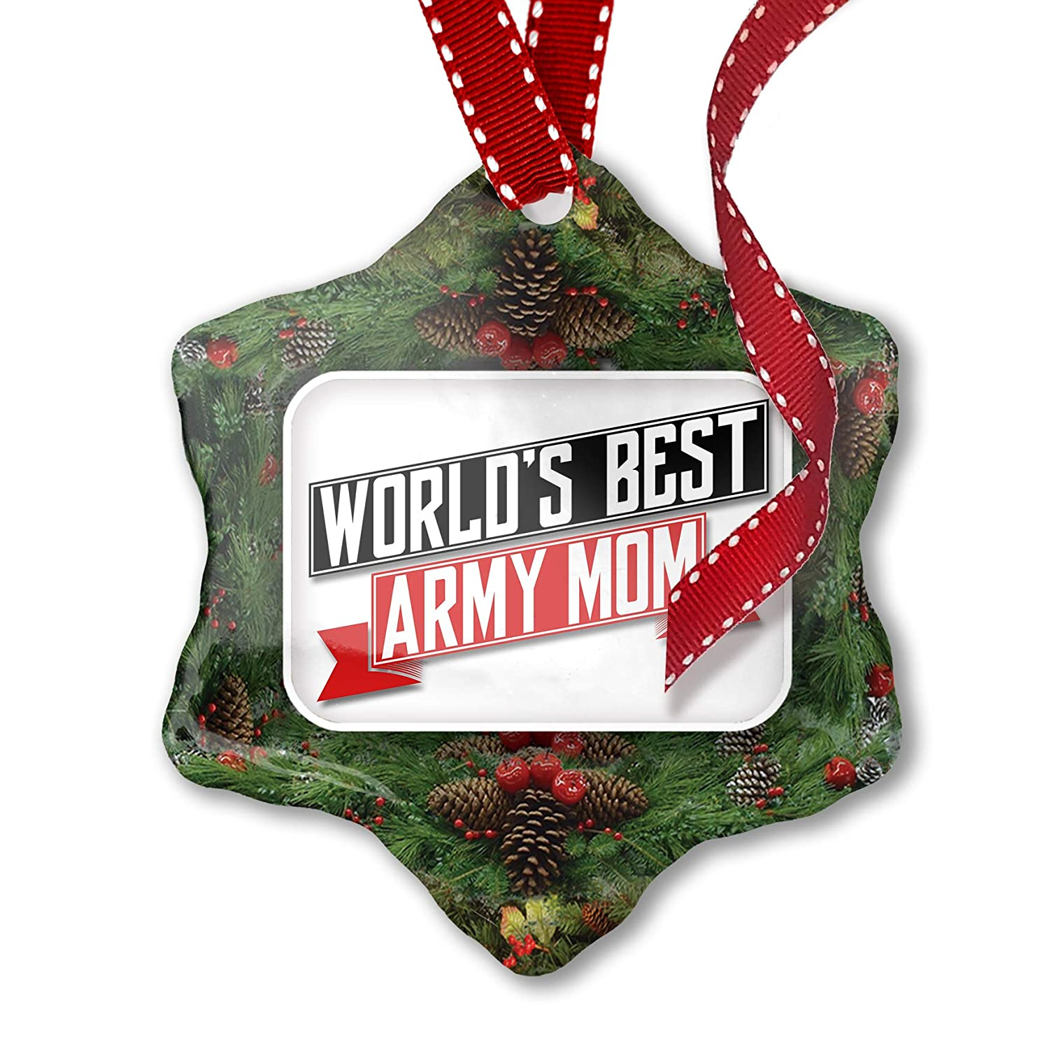Neonblond Worlds Best Army Mom Metal License Plate