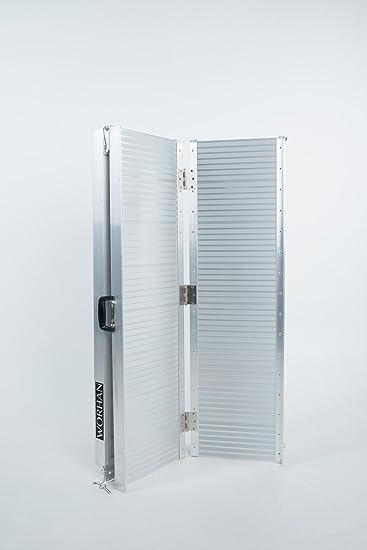 WORHAN® 2.44m Rampa Plegable Carga Silla de Ruedas Discapacitado Movilidad Aluminio Anodizado 244cm R8: Amazon.es: Bricolaje y herramientas