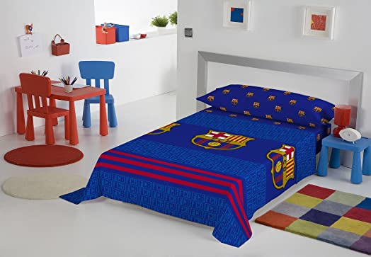FC Barcelona Bedding Set Futs66 Bed 105 (Top Sheet + Fitted Sheet + F.