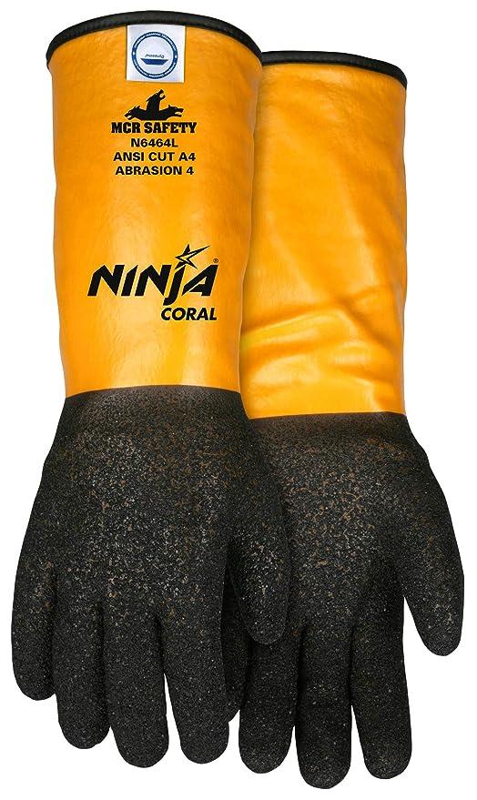 MCR Safety N6464XXL Ninja - Guantes de coral con 10 ...