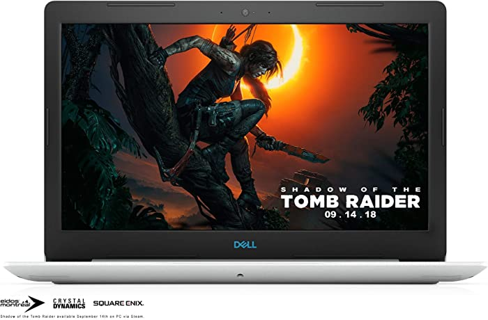 "Dell G3 15.6"" FHD Gaming Laptop Computer, 8th Gen Intel Hexa-Core i7-8750H up to 4.1GHz, 8GB DDR4, 128GB SSD + 1TB HDD, GTX 1050 Ti 4GB, 802.11ac WiFi, BT 5.0, USB 3.1, Backlit KB, White, Windows 10"