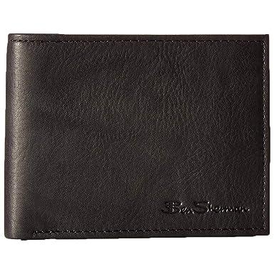 ed70e9343277 Ben Sherman Manchester Men s Full Grain Leather Passcase Wallet in Black