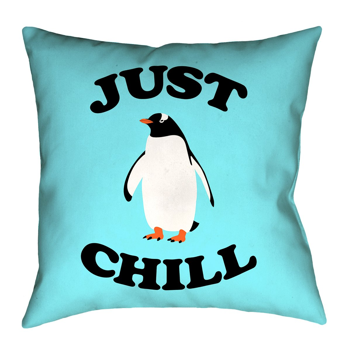 Double Sided Print with Concealed Zipper /& Insert SMI114P2626F Updated Fabric ArtVerse Katelyn Smith Just Chill Penguin 26 x 26 Pillow-Faux Linen