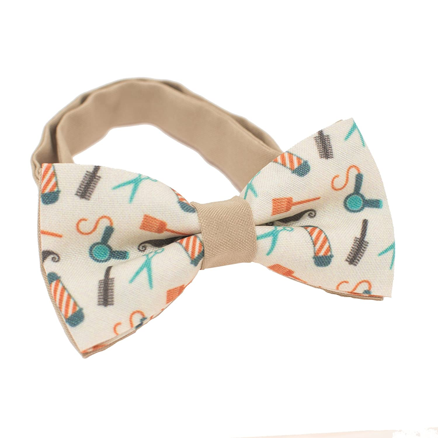 Bow Tie House Bright Purple bow tie with cats pre-tied shape unisex pattern 08340