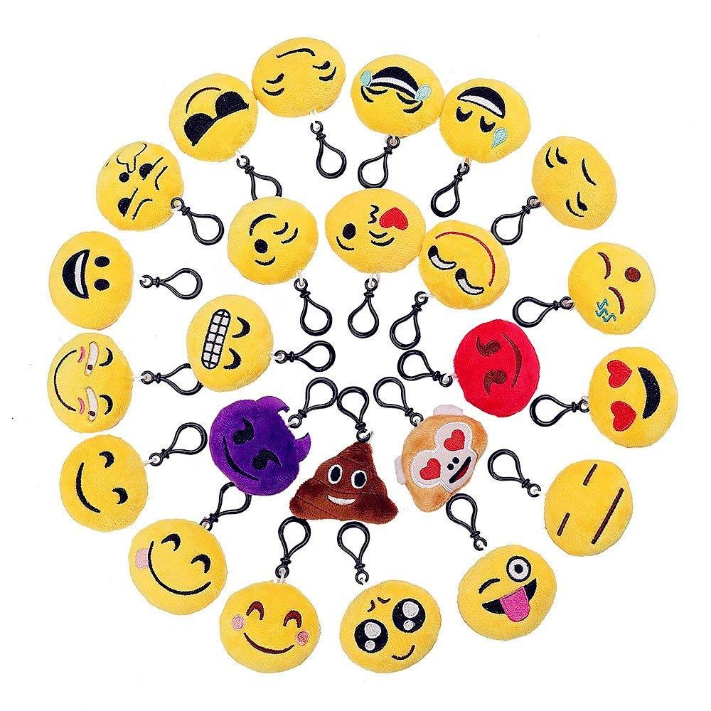 Emoji Llavero,Emoticon Llavero Lindo Juguete de Peluche ...