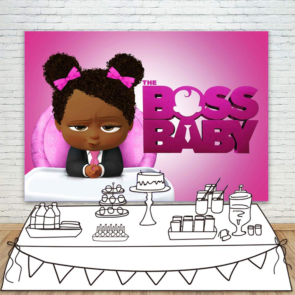 Amazon Com Black Girl Boss Baby Backdrop For Baby Shower