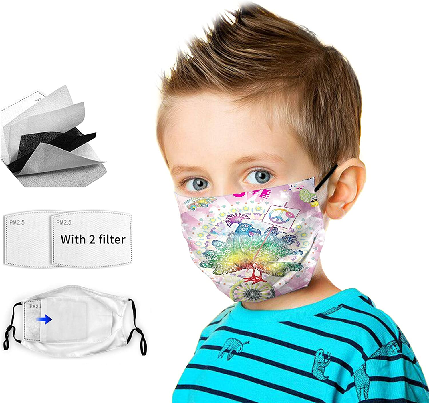 Made in USA face mask for Children,Reusable Face Mask Washable Cover Children