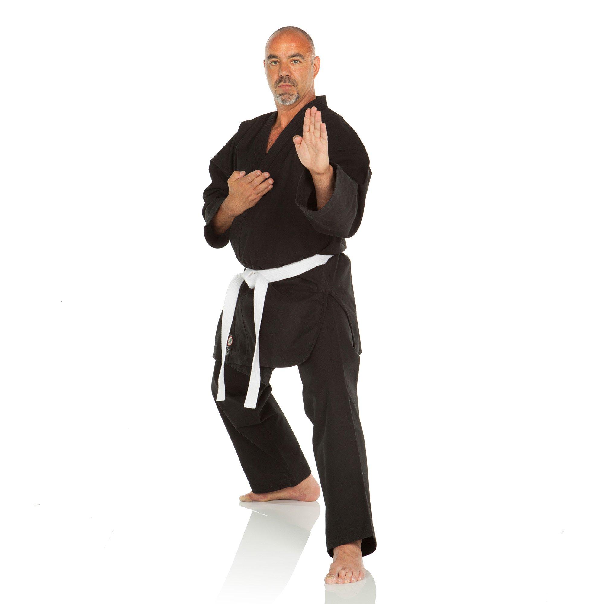 Ronin Brand 12oz. Traditional Heavyweight Karate Uniform (Black, 10) by Ronin Brand