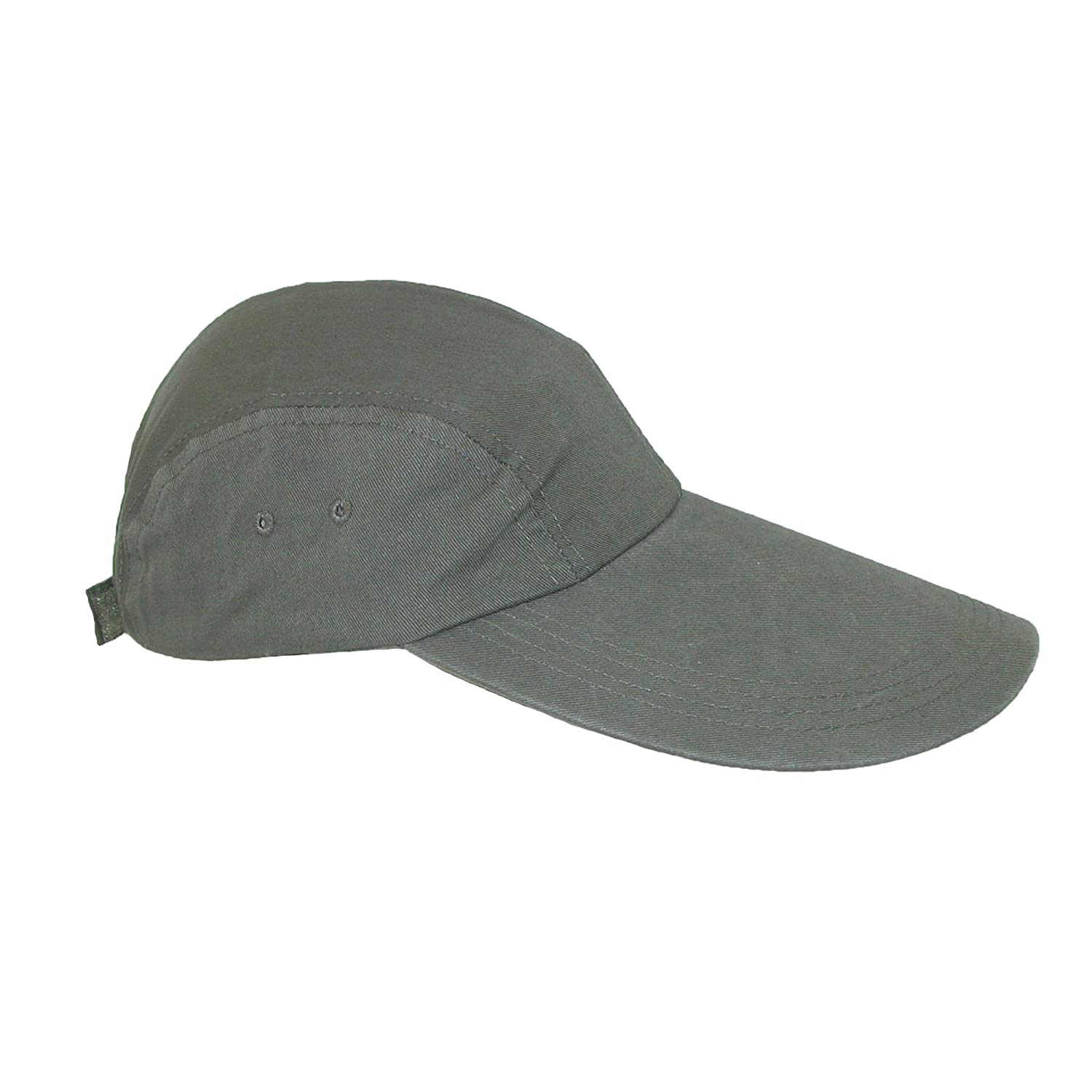 cf65bd25e CTM® Long Bill Baseball Cap with Extended 5 Inch Visor color Khaki one size  at Amazon Men's Clothing store:
