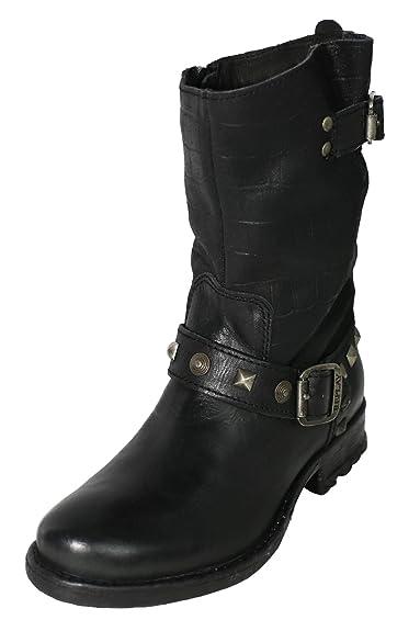 Avery Stiefel Stiefeletten Biker Boots Damen Leder, Farbe:schwarz;Schuhgrößen:36 Replay