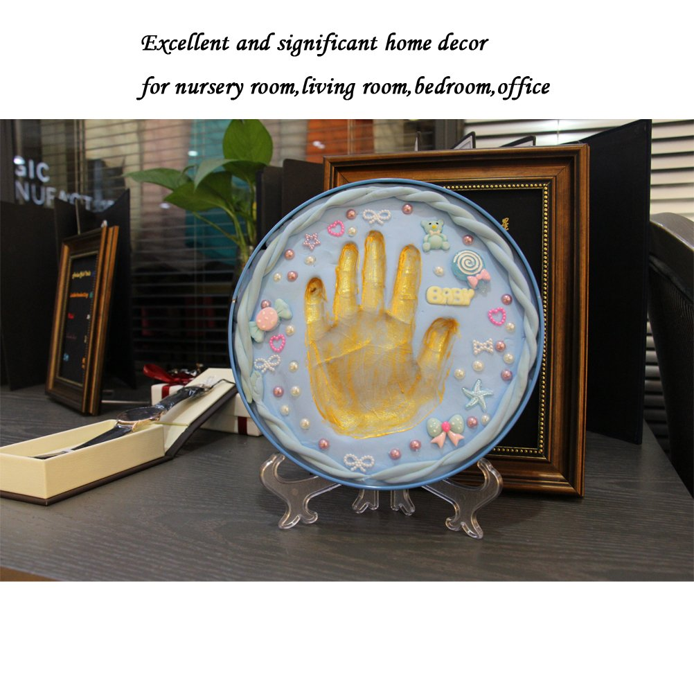 Baby Handprint Kit-Unique Shower Gifts with Non Toxic Clay, Memorable keepsake/Nursery Kit for New Baby/Parents,Perfect for Nursery Room,Bedroom,Living Room by MICHIKO (Image #9)