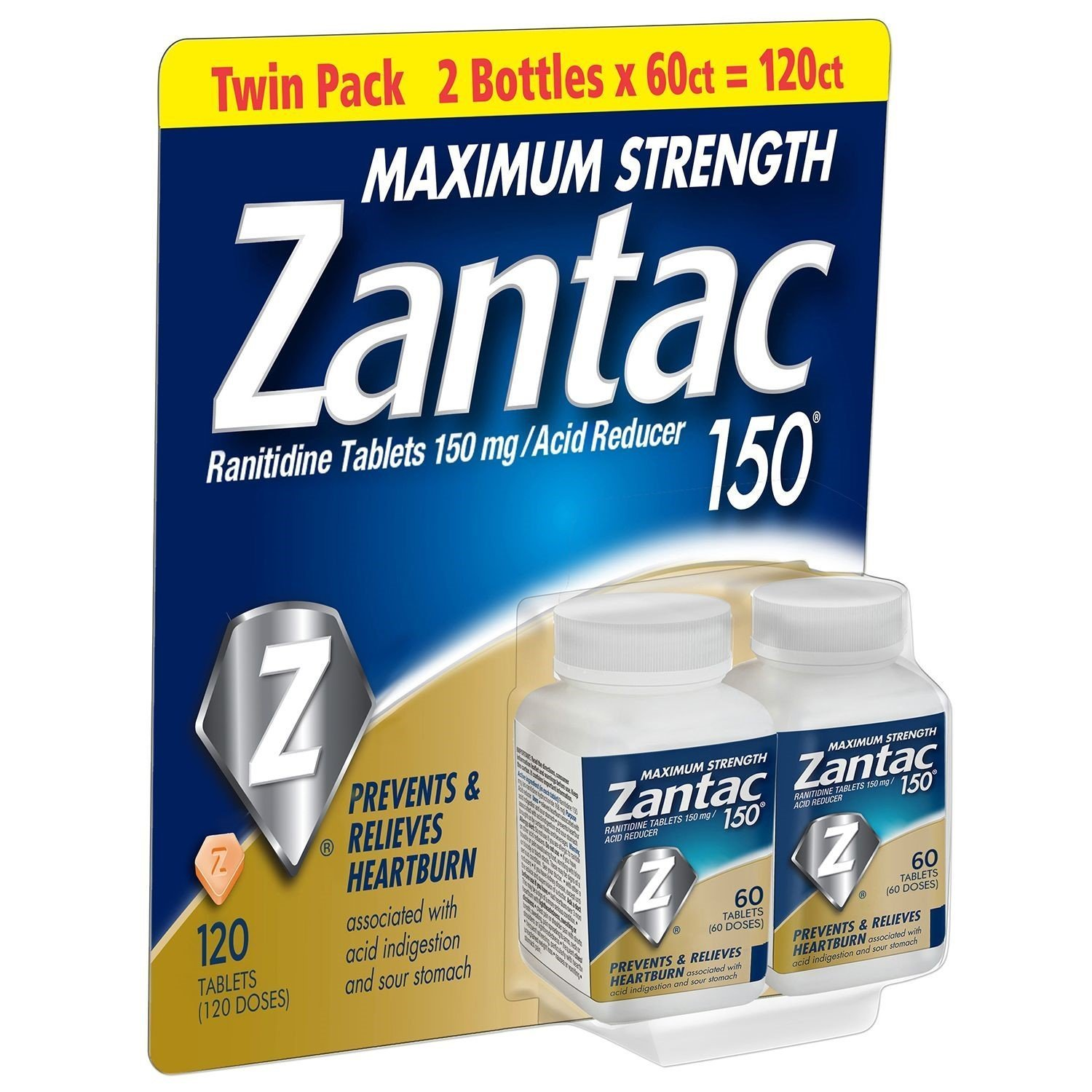 Zantac 150 Maximum Strength Tablets,6Pack ( 60 Count Each )