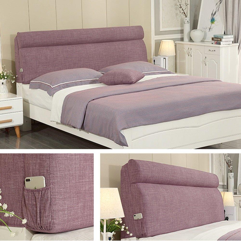 Colore : Purple, Dimensioni : No headboard-120cm WENZHE Cuscini Testiera da Letto Testiere Capezzale Cuscino della Testata Custodia Morbida Letto Matrimoniale Lavabile 4 Colori