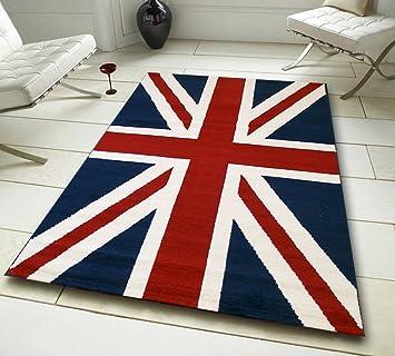 Nouvelle Union Jack Tapis - la Grande-Bretagne Pavillon Bleu Rouge ...