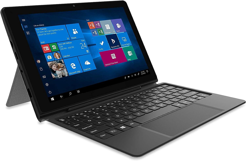 Venturer 10 Inches Intel Celeron N4000 4GB RAM 64GB Storage Touch 2-in-1 Bluetooth WiFi Windows 10 Tablet PC