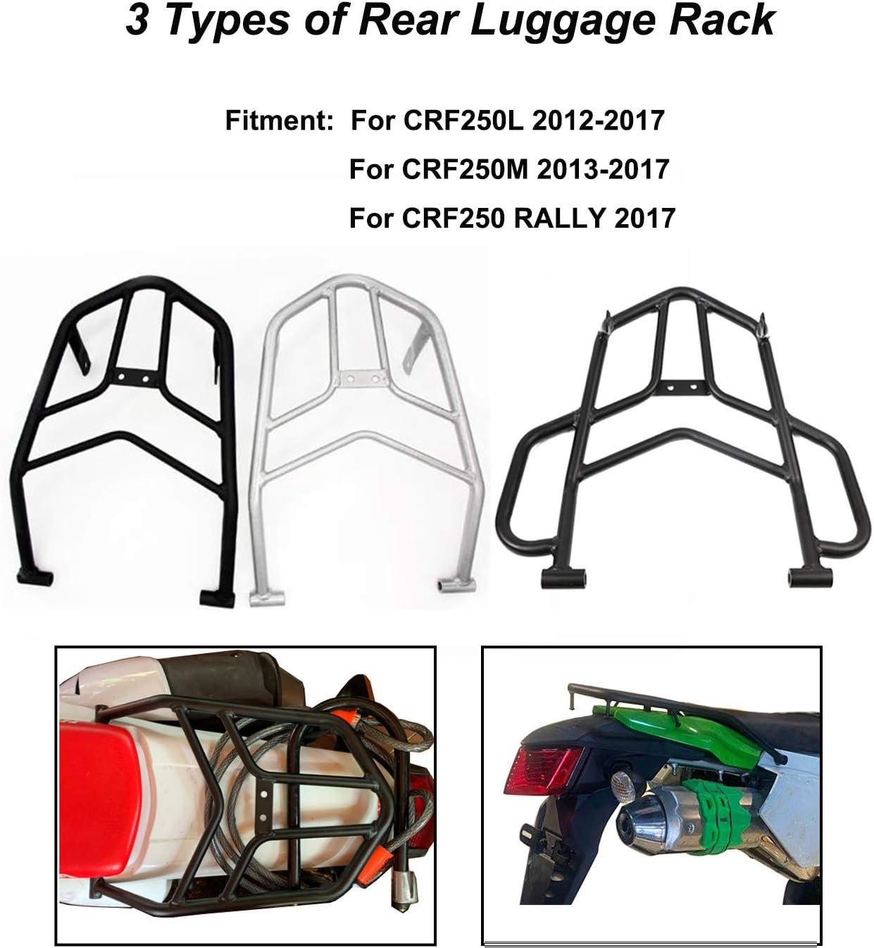 Black Rear Luggage Carry Rack Fits Honda CRF250L 2013 2014 2015 2016 2017 2018