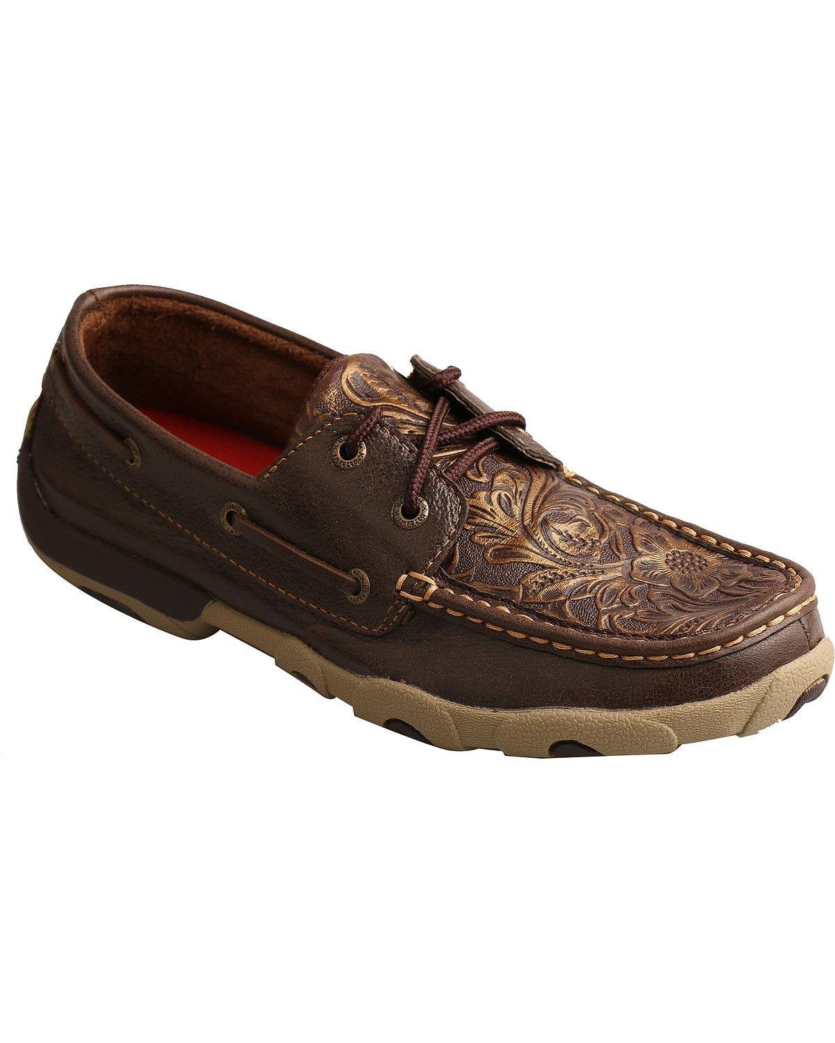 Twisted X Womens Driving Moccasins B073RMCTMT 7.5 B(M) US|Brown