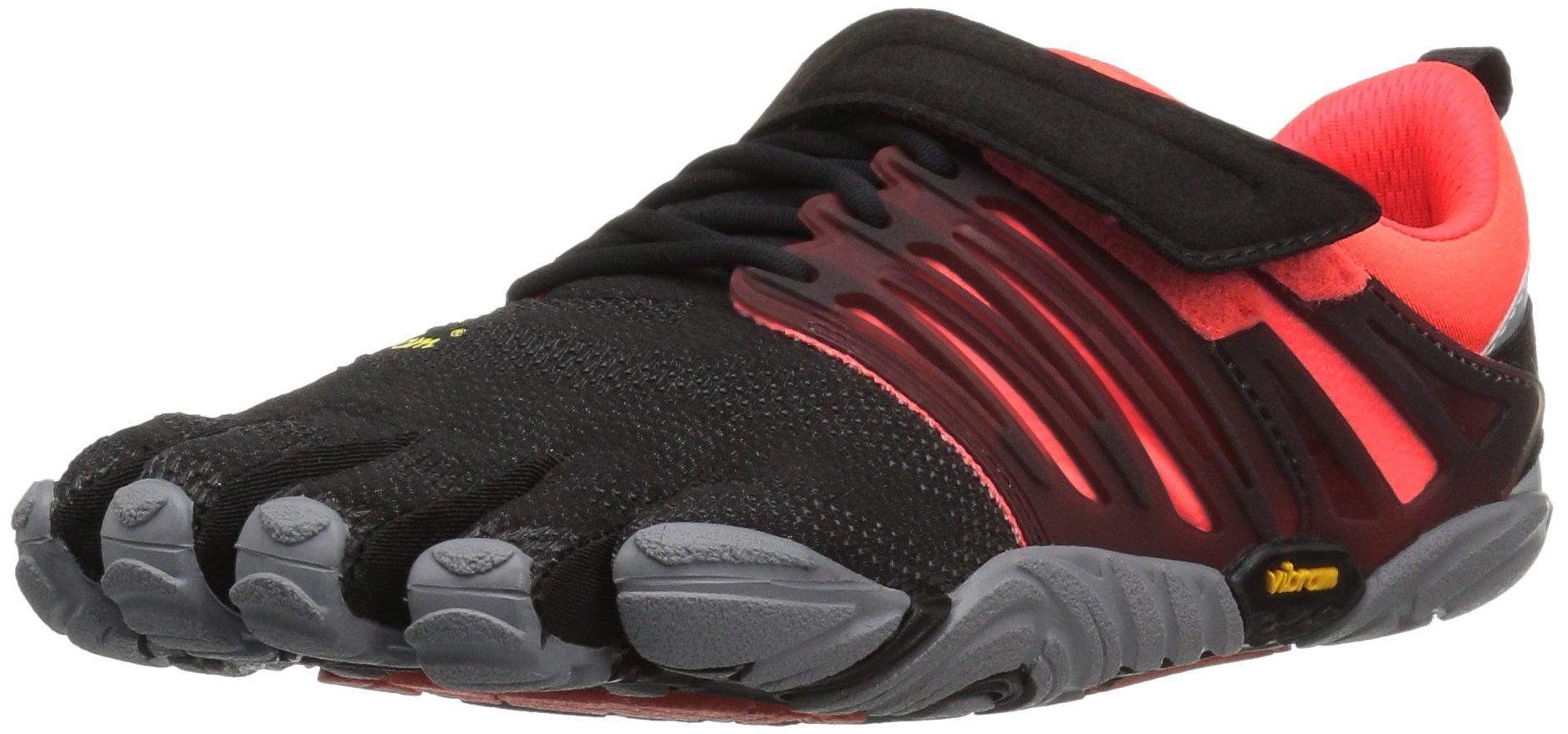 Vibram Women's V-Train Cross-Trainer Shoe, Black/Coral/Grey, 40 EU/8 M US