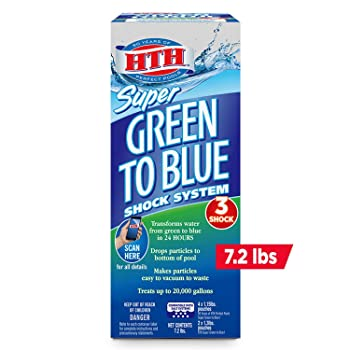 HTH 52009 Super Green to Blue Pool Shock