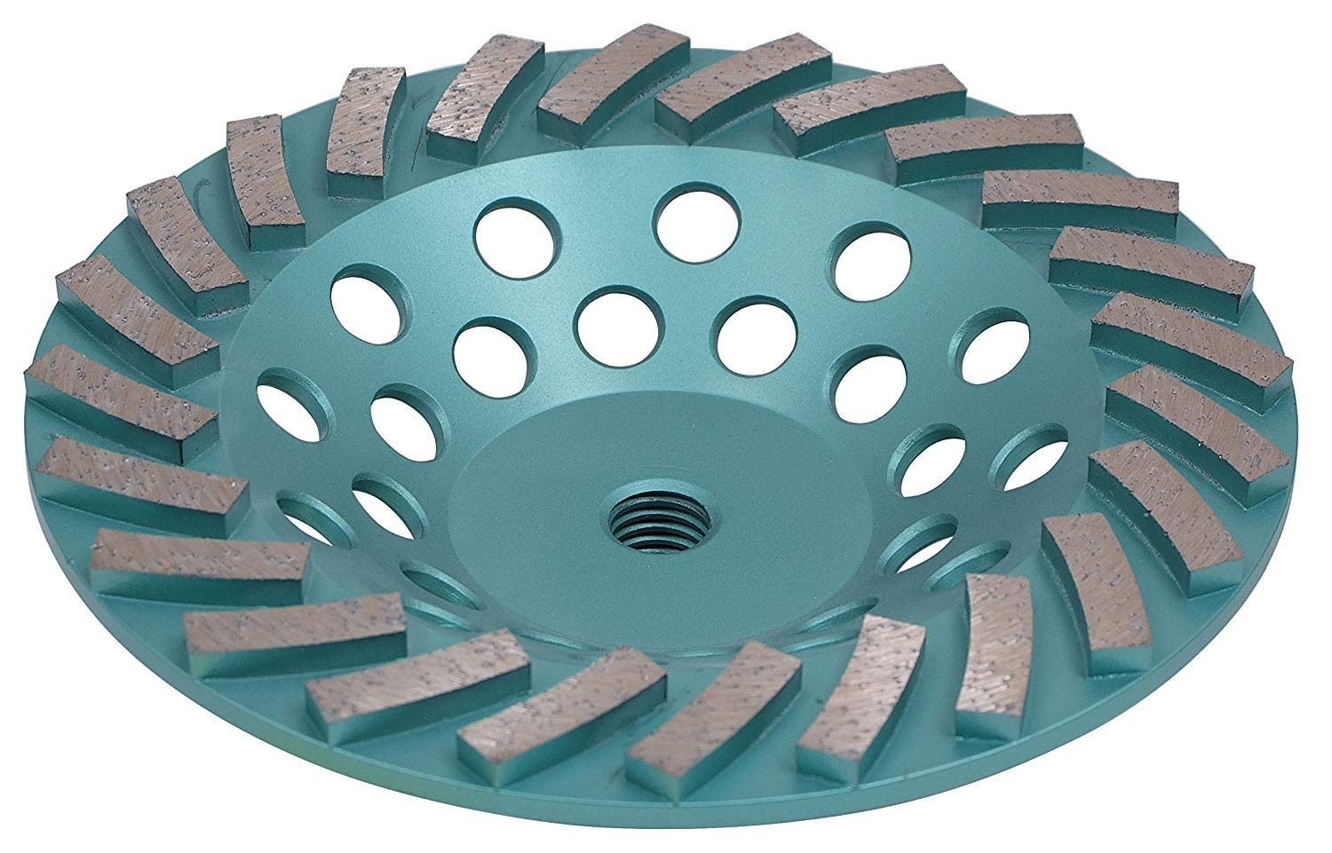 DPT 7-Inch Turbo Diamond Cup Wheelfor Fast Surface Grinding of Concrete, Brick, Stone and Blocks, Universal 7/8'' Arbor