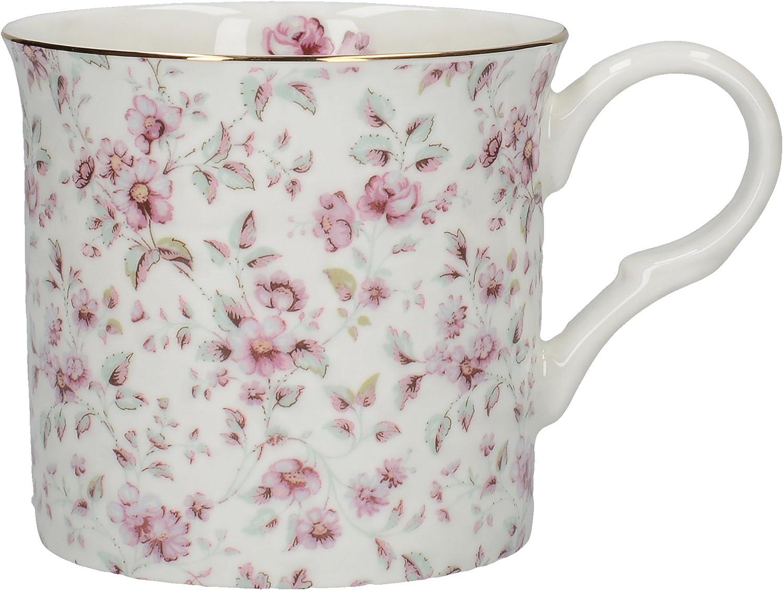 Creative Tops Katie Alice Ditsy White Floral Bone China Shabby Chic Mug