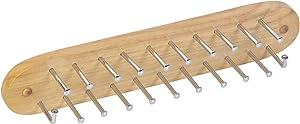 Richards Homewares SKONA Closet Accessories Tie and Belt Rack, Natural Wood