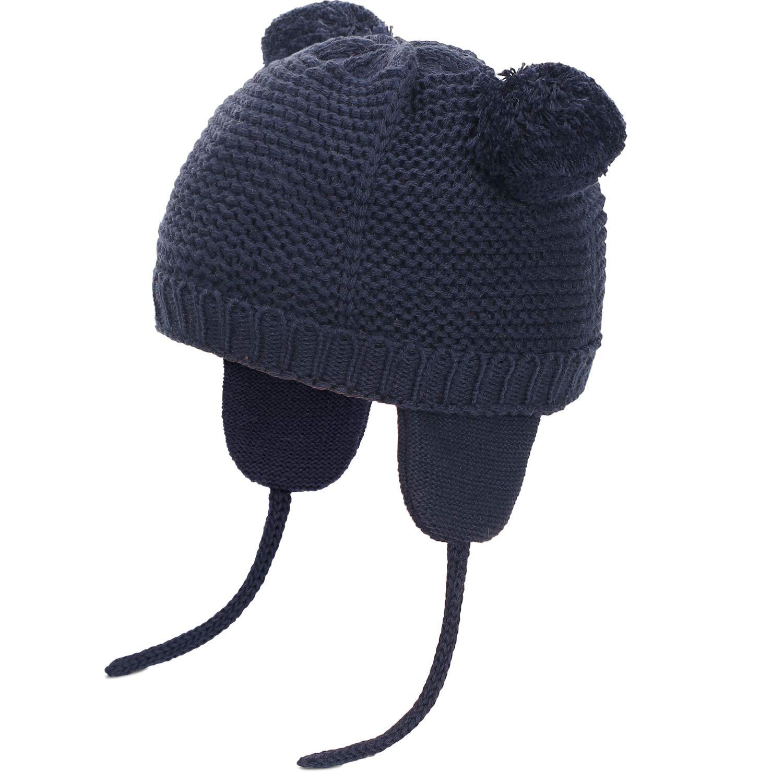 Mode Neugeborenes Süßes Baby Winter Warm Hut 0-24 Monate Kleinkind Cotton Mütze