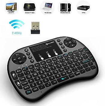 Mini teclado inalámbrico, 2.4 G Mini Wireless Touchpad Ratón Combo. Smart TV, PC, Android TV Box, etc.: Amazon.es: Electrónica