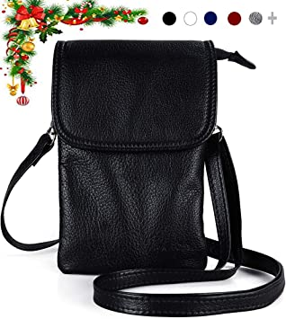 Womens Crossbody Shoulder Designer Handbag Ring Chain Small Bag REAL LEATHER UK