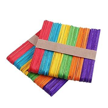 Palos de Madera, Colores de madera palos de helado, congelador Pop Sticks, vibrante
