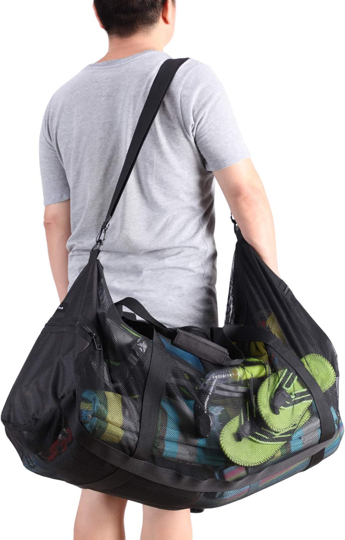 Mesh Duffel Gear Bag Shoulder Bag For Scuba Diving Snorkeling Swimming