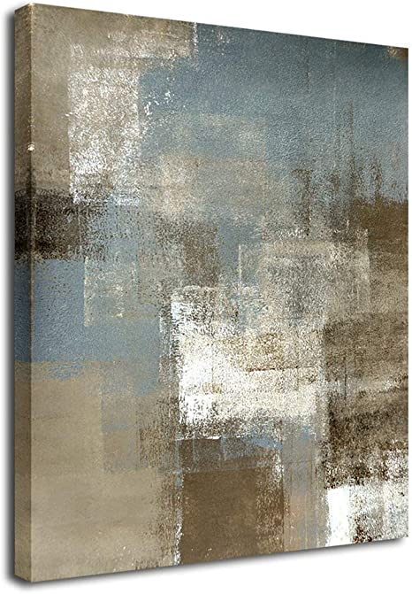 Amazon Com Yearainn Large Abstract Wall Art Living Room Decor Grey Brown Patches Modern Canvas Picture Artwork Bedroom Contemporary Wall Art Canvas Painting Prints Gray Brown Themes Office Home Decor 30 X 40