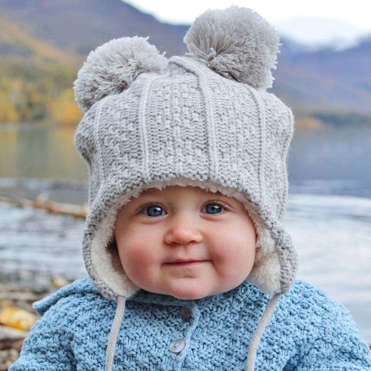 Yuanmeiju Helicopter Search and Rescue Swimmer Toddlers Beanie Cuffed Knit Hat Bonnet de cr/âne en Coton