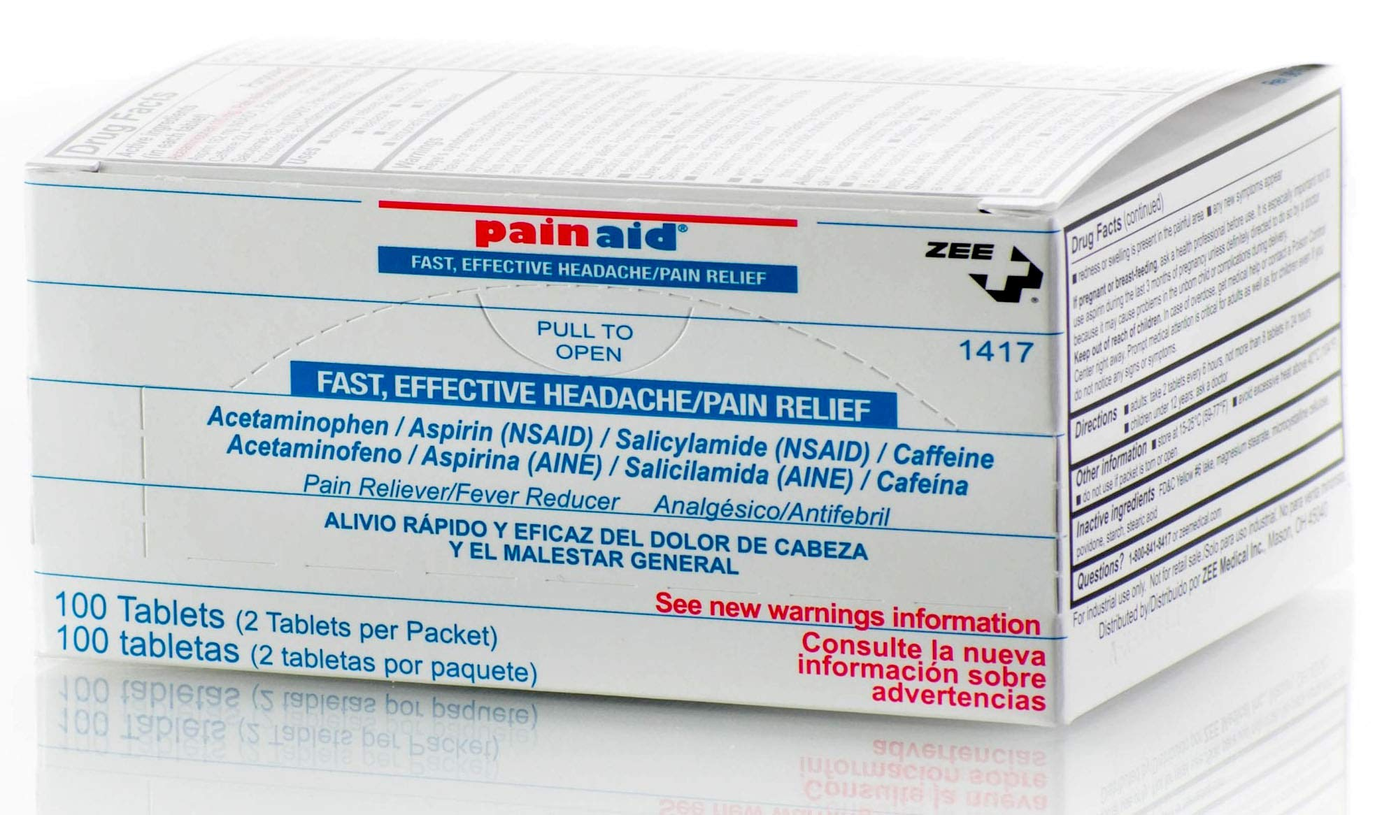 PainAid - Pain Relief - Refill Box - 100 Tablets by LERAMED