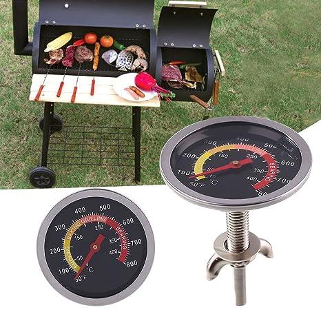 Kicode Temperatura Barbacoa Redondo medir Grill Termómetro para Barbacoa Carne Cocina Cerdo