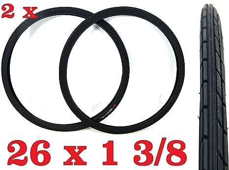 Oferta - 2X Neumático para Bicicleta Tamaño 26 X 1 3/8 Negro Ideal ...