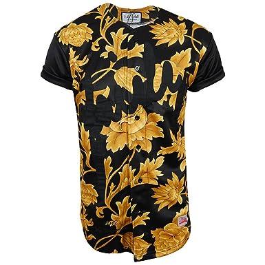 8a149f6b8eb Sik Silk Golden Flower Baseball Jersey - Unisex  Amazon.co.uk  Clothing