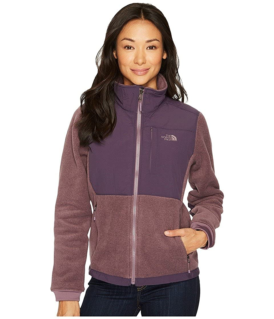 The north face womens denali jacket small black plum heather dark eggplant  purple at amazon womens 7392be2bc