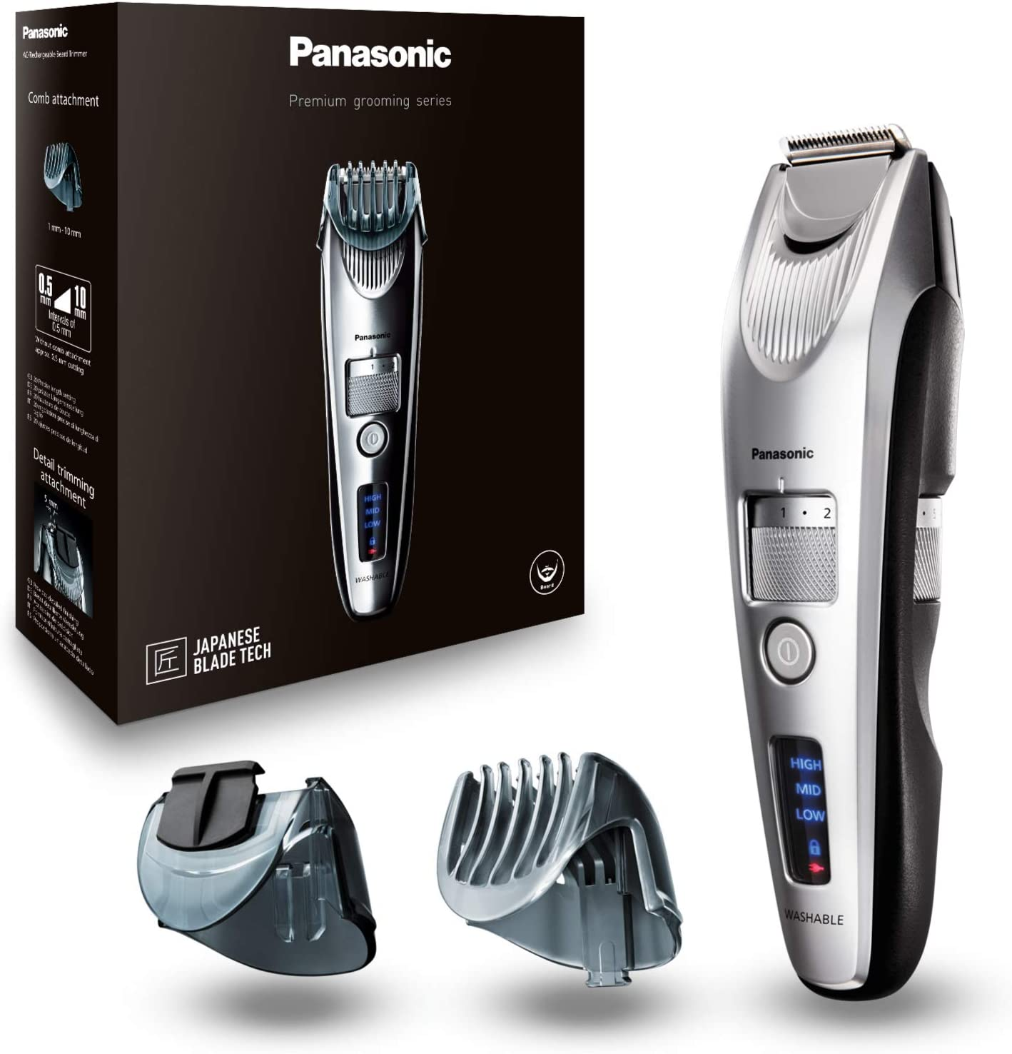 Panasonic ER-SB60 - Barbero profesional, color plata: Amazon.es ...