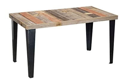 Del Hutson Designs Rustic Barnwood U0026 Metal Coffee Table, Multi Colored  (21.5H