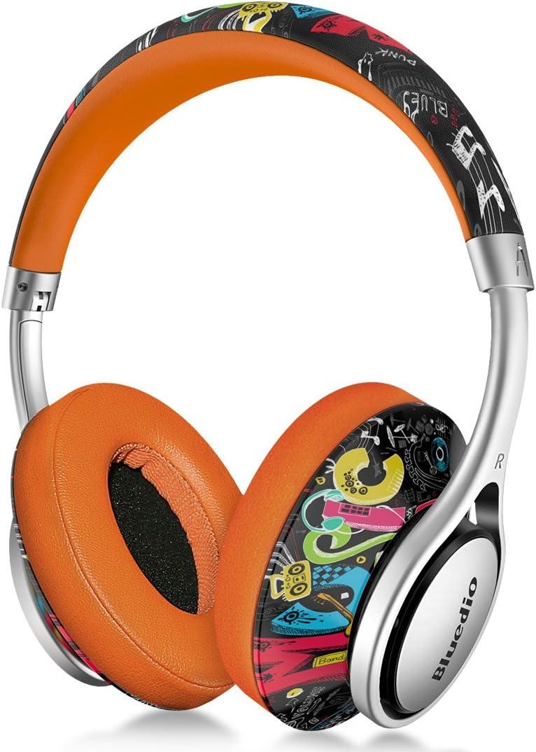Bluedio A (Air) Auriculares inalámbricos Bluetooth Ligeros Sonido estéreo con micrófono (Garabato)