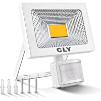 Foco LED Exterior, Focos LED Sensor Movimiento Exterior Impermeable, 20W CLY LED 1800LM IP66 6500K, Lámparas Led de…